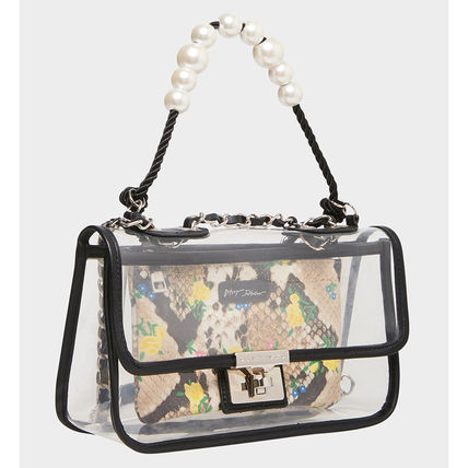 Casual Style Party Style Crystal Clear Bags Office Style