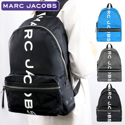 Nylon A4 Office Style Logo Backpacks