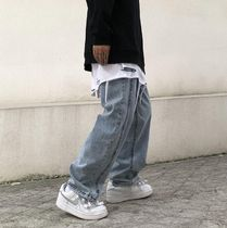 More Jeans Denim Street Style Plain Oversized Jeans 7