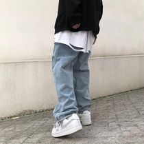 More Jeans Denim Street Style Plain Oversized Jeans 8