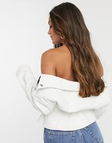 ASOS Short Casual Style Faux Fur Plain Jackets