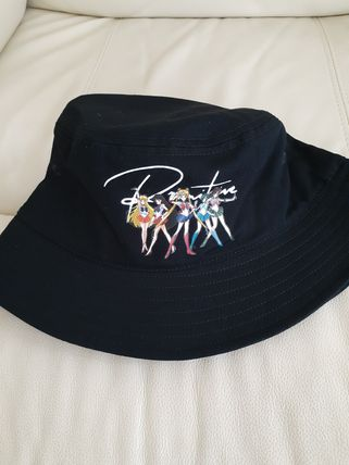 Street Style Collaboration Bucket Hats Wide-brimmed Hats