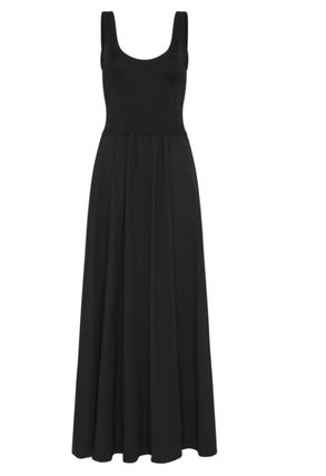 Maxi A-line Plain Cotton Long Dresses