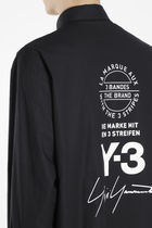 Y-3 Plain Cotton Logo Designers Shirts