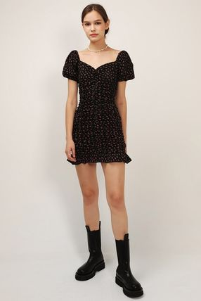Casual Style Street Style Cotton Logo Dresses