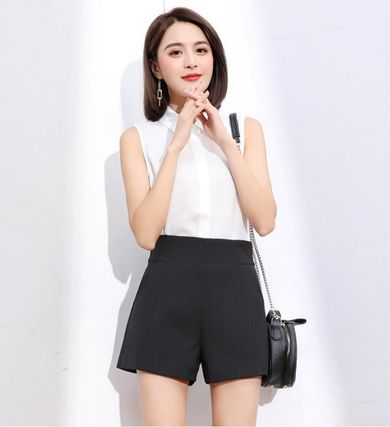 Short Casual Style Street Style Plain Office Style