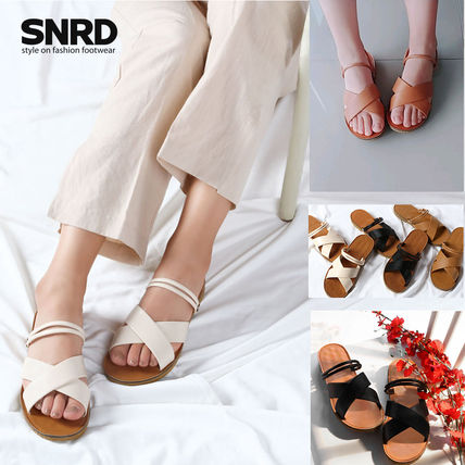 Round Toe Rubber Sole Casual Style Faux Fur Plain Slippers