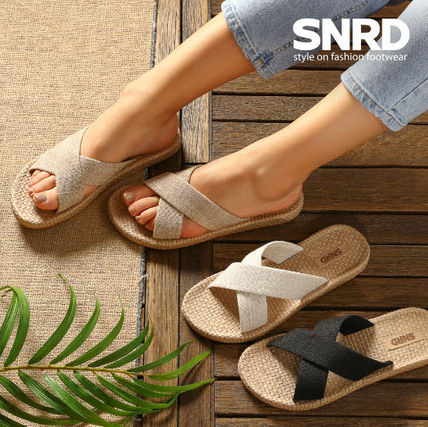 Round Toe Rubber Sole Casual Style Flip Flops Slippers