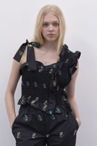 CECILIE BAHNSEN Short Flower Patterns Casual Style Sleeveless Party Style
