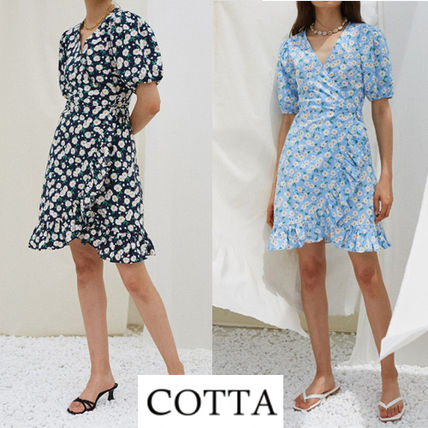 Casual Style Street Style Short Sleeves Dresses