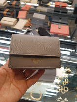 CELINE Calfskin Plain Leather Folding Wallet Small Wallet Bridal