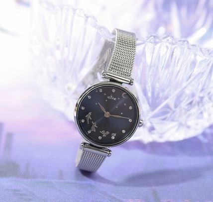 Collaboration Metal Round Quartz Watches Stainless