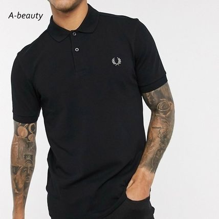 FRED PERRY Cotton Short Sleeves Logo Polos