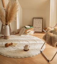 DECO VIEW Collaboration Plain Round Carpets & Rugs