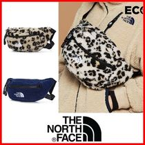 THE NORTH FACE WHITE LABEL Leopard Patterns Unisex Street Style Crossbody Bag Shearling