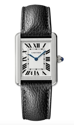 Cartier TANK Casual Style Unisex Street Style Leather Square Party Style