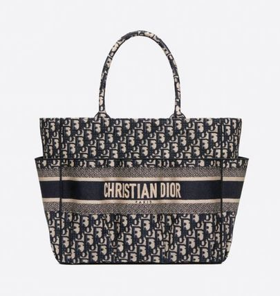 Christian Dior Casual Style A4 2WAY Elegant Style Logo Totes