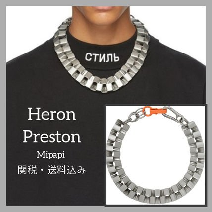 Street Style Chain Logo Necklaces & Chokers