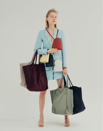 MUTEMUSE Casual Style Leather Formal Style  Satchels