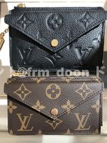 Louis Vuitton Monogram Unisex Calfskin Plain Leather Small Wallet