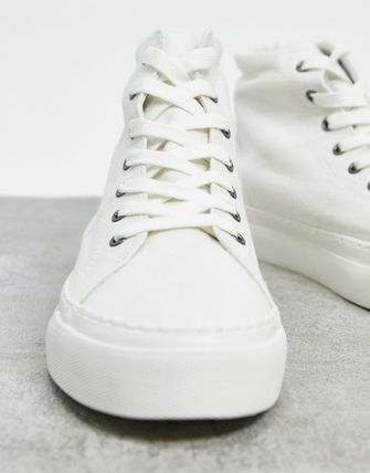 Blended Fabrics Plain Sneakers