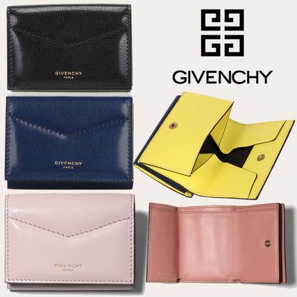 GIVENCHY Plain Leather Small Wallet Folding Wallets