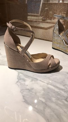 Jimmy Choo Open Toe Casual Style Leather Party Style Office Style
