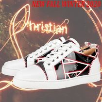 Christian Louboutin LOUIS Blended Fabrics Street Style Leather Logo Sneakers