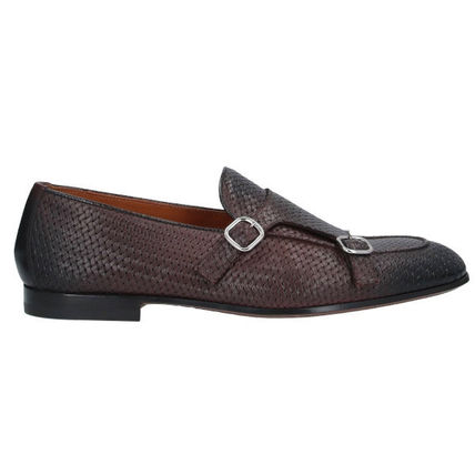 Moccasin Loafers Street Style Plain Leather Handmade
