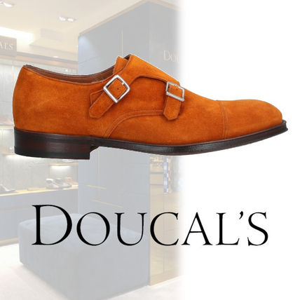 DOUCAL'S Loafers & Slip-ons Loafers Suede Street Style Plain U Tips Handmade