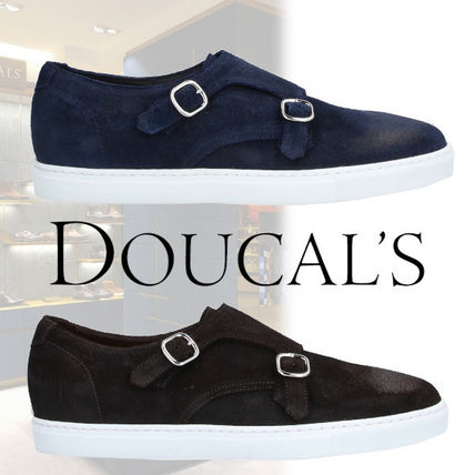 DOUCAL'S Loafers & Slip-ons Moccasin Suede Street Style Plain U Tips Loafers & Slip-ons
