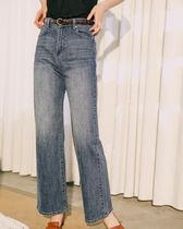 Plain Long Wide & Flared Jeans