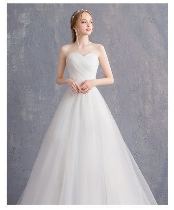 Maxi A-line Flared Long Bridal Wedding Dresses