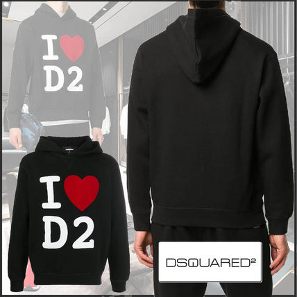 D SQUARED2 Long Sleeves Cotton Logo Luxury Hoodies