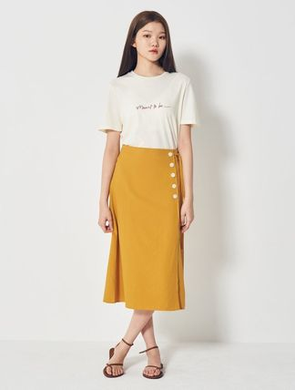 Pencil Skirts Flared Skirts Casual Style Blended Fabrics
