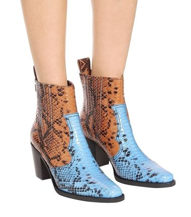 Cowboy Boots Rubber Sole Casual Style Other Animal Patterns