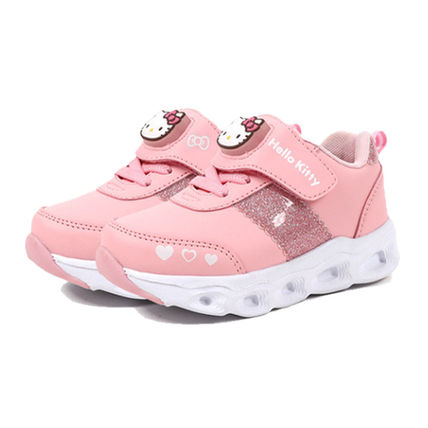 Street Style Icy Color Kids Girl Sneakers