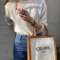 CELINE Casual Style Canvas Blended Fabrics A4 2WAY Leather
