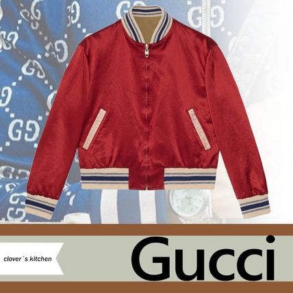 GUCCI Reversible Bomber Jacket With Gucci Orgasmique