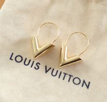 Louis Vuitton V Essential V Hoop Earrings