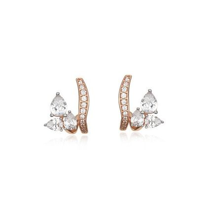 Casual Style Office Style 14K Gold Elegant Style Earrings