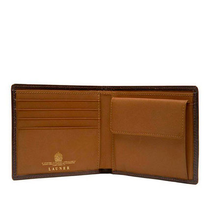Bi-color Plain Leather Folding Wallet Logo Folding Wallets