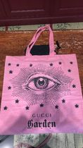 GUCCI Casual Style Canvas A4 Other Animal Patterns Logo Totes