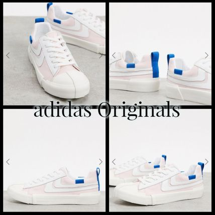 Lace-up Casual Style Leather Low-Top Sneakers