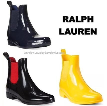 Ralph Lauren Logo Bi-color Plain Flat Boots