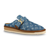 Louis Vuitton Monogram Unisex Logo Loafers & Slip-ons