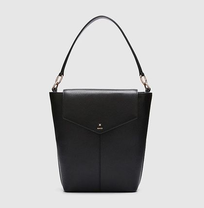 2WAY Leather Elegant Style Formal Style  Totes