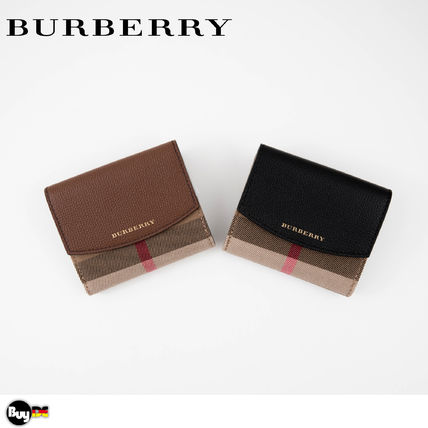 Burberry Leather Folding Wallet Folding Wallets
