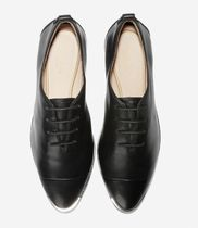 Cole Haan Lace-up Suede Plain Leather Low-Top Sneakers