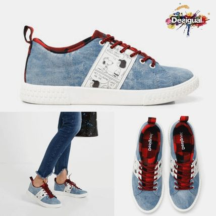 Casual Style Street Style Logo Low-Top Sneakers
